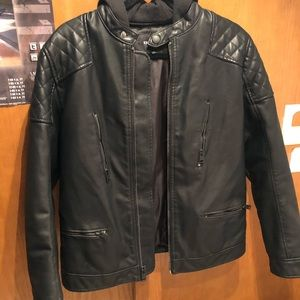 Express for Men Outerwear Leather hoodie Jacket